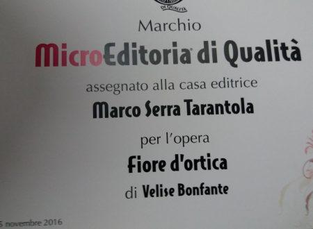 Fiore d'Ortica Marchio MicroEditoria di Qualità 2016